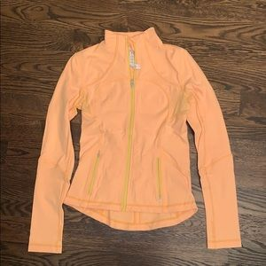 Lululemon Define Jacket - Orange, Size 8